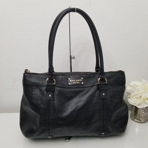 KATE SPADE New York Black Pebbled Leather Tote